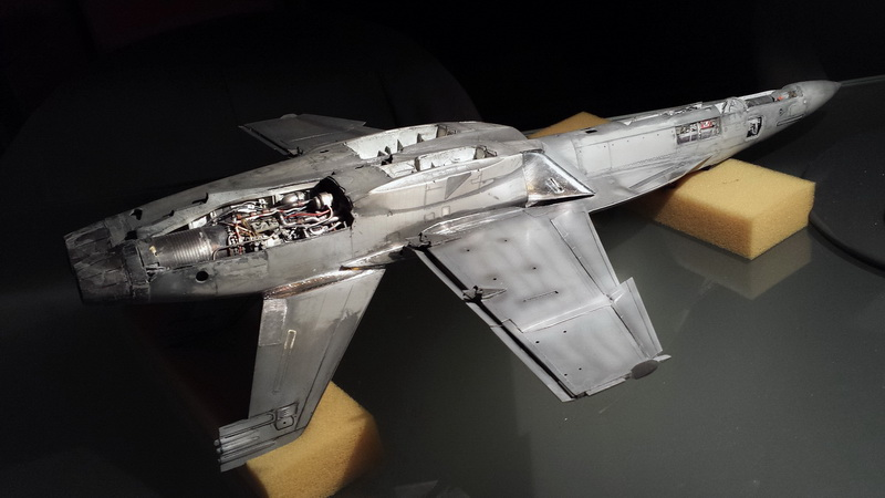 Boeing F/A - 18E Super Hornet Trumpeter kit scale 1:32 20131016_204025