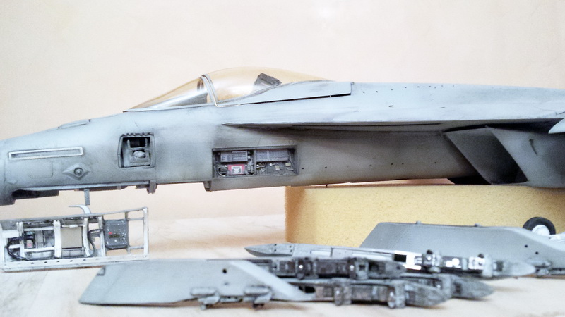 Boeing F/A - 18E Super Hornet Trumpeter kit scale 1:32 20131026_201048