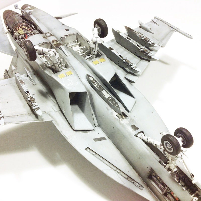 Boeing F/A - 18E Super Hornet Trumpeter kit scale 1:32 IMG_0801