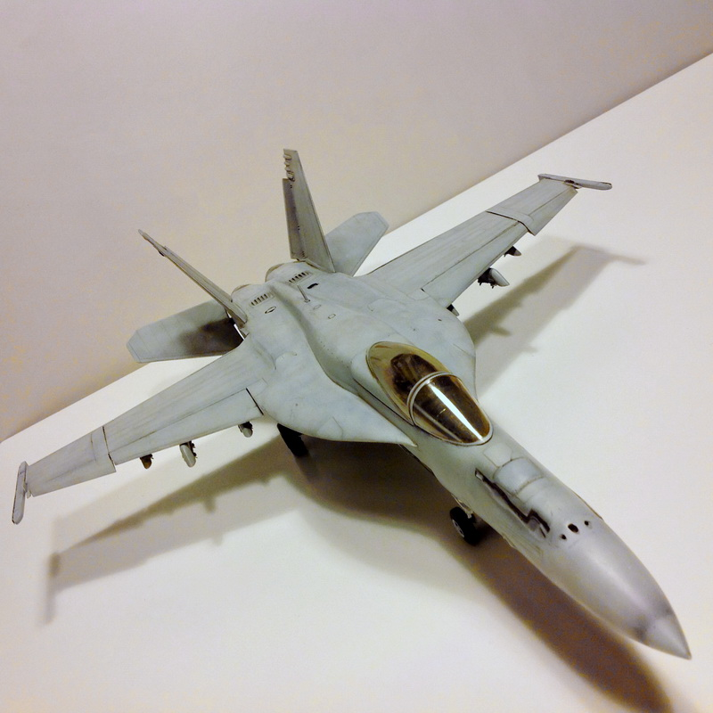 Boeing F/A - 18E Super Hornet Trumpeter kit scale 1:32 IMG_0818