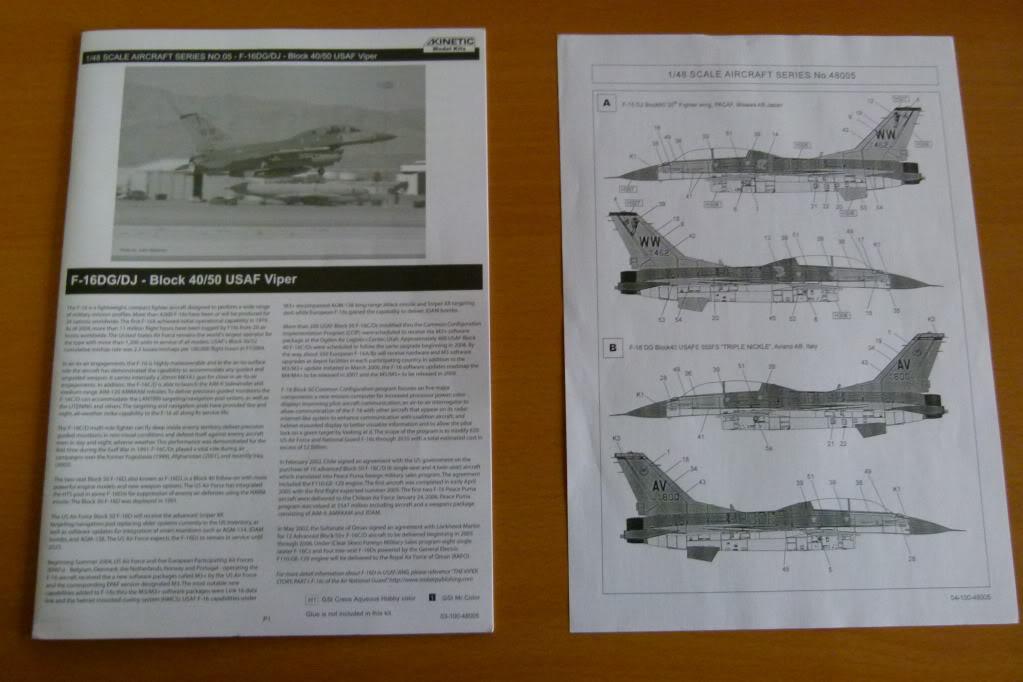 F-16D Block 50 1/48 de Kinetic Model P1010033
