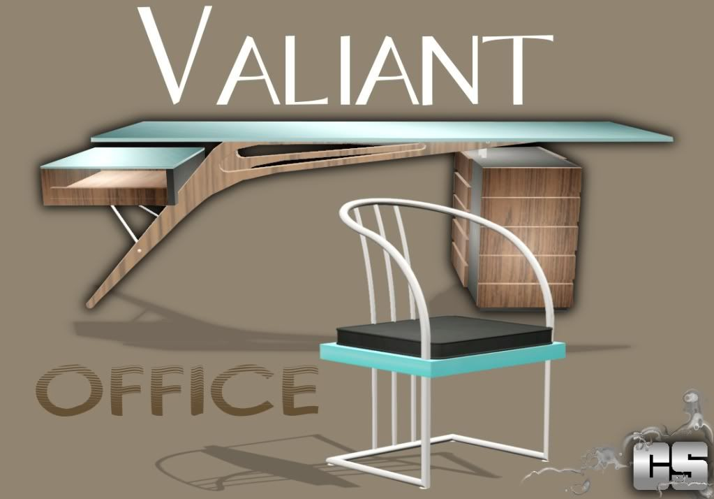 Valiant Office set by Capital Sims 5