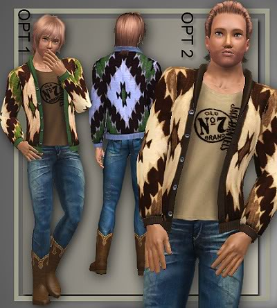 Western Attire For Appaloosa Plains for Adult Males by Judie MAwesternSweater_AAS