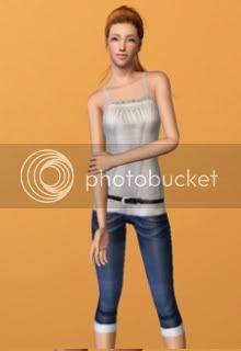 outfits by simsalia TopmitDreiviertelhose