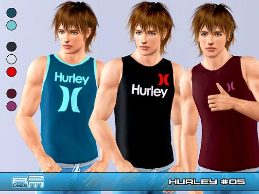 Hurley t-shirt for male by Re Maron! Sims3updates_cas_9415_M