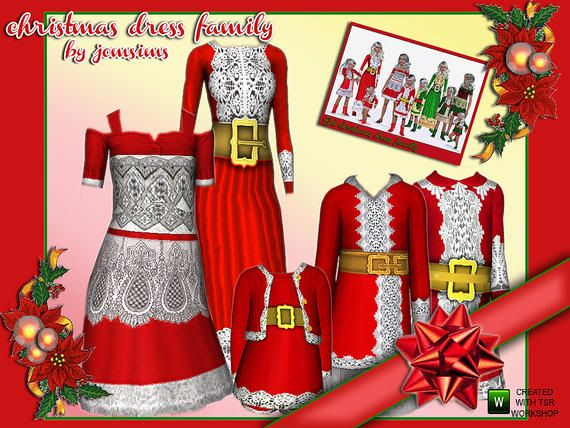 set christmas family dresses by jomsims W-570h-428-1964217