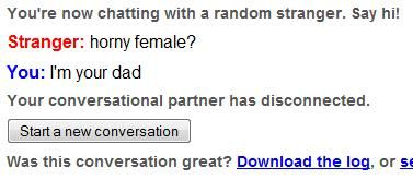Retarded omegle conversations. - Page 2 Hornyfemale