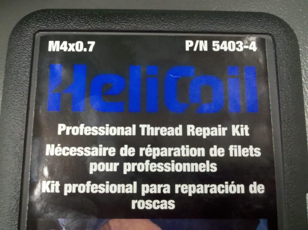 locking - Repairing a Bendmaster locking nut with Helicoils Kit
