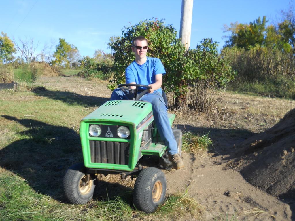 The big green beast monster mower. DSCN0213