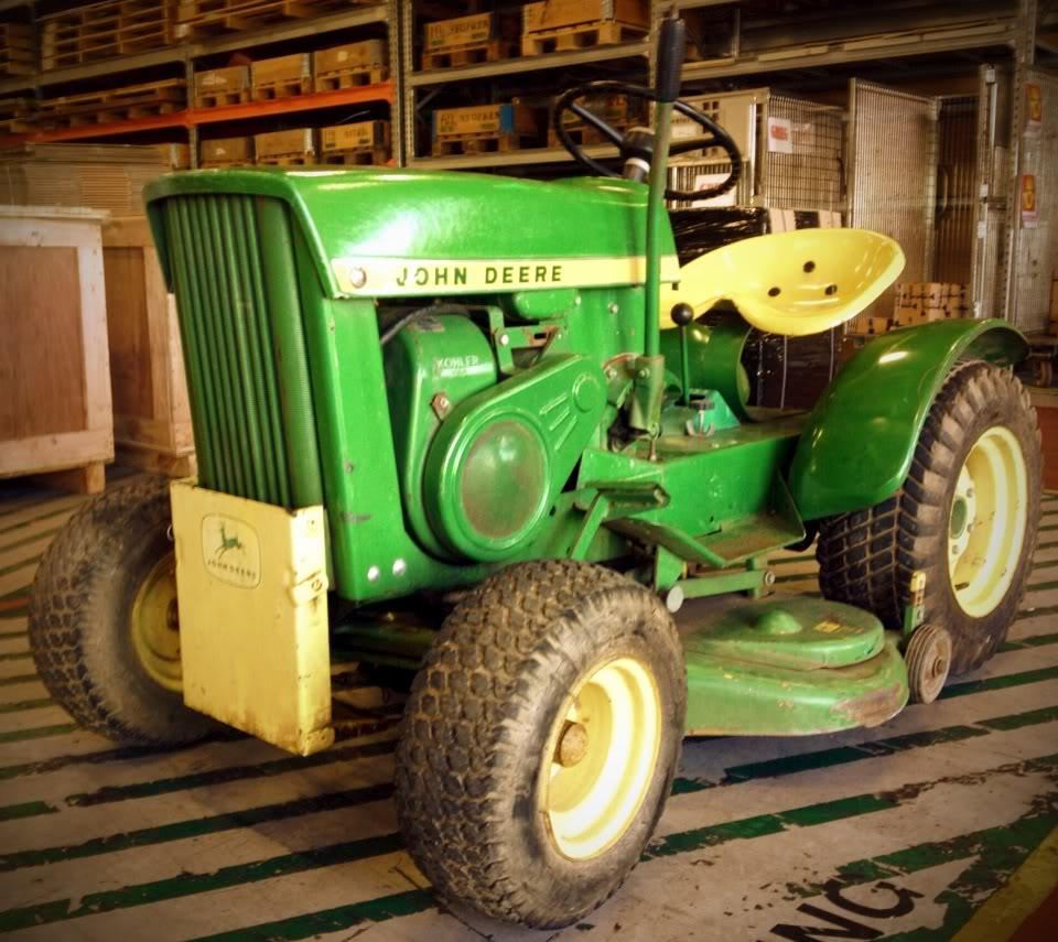 Finally got my Vintage 1967, John Deere 110 924F2FE9-315B-4073-8D7C-6250FFF5EB82-43305-00000D4D3ACF7F1F_zps64df8106