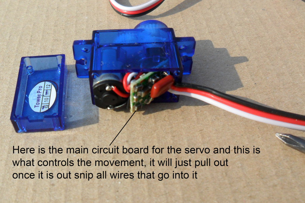 Instructions To Make Continuous Motor From A Servo SAM_1000