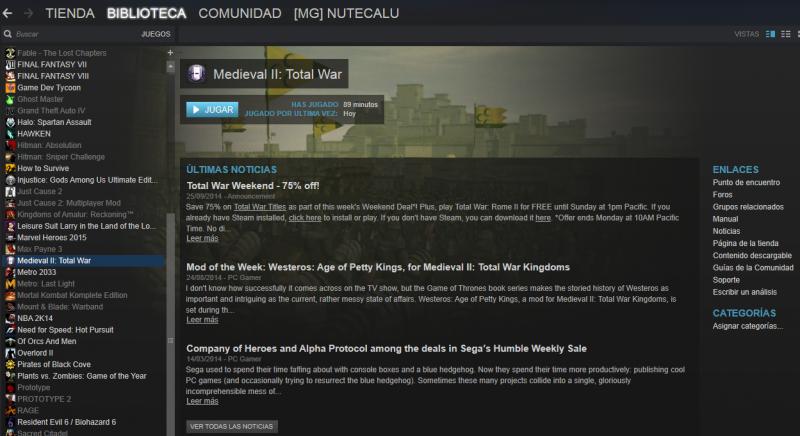 Problema con Kingdoms y Steam Biblioteca