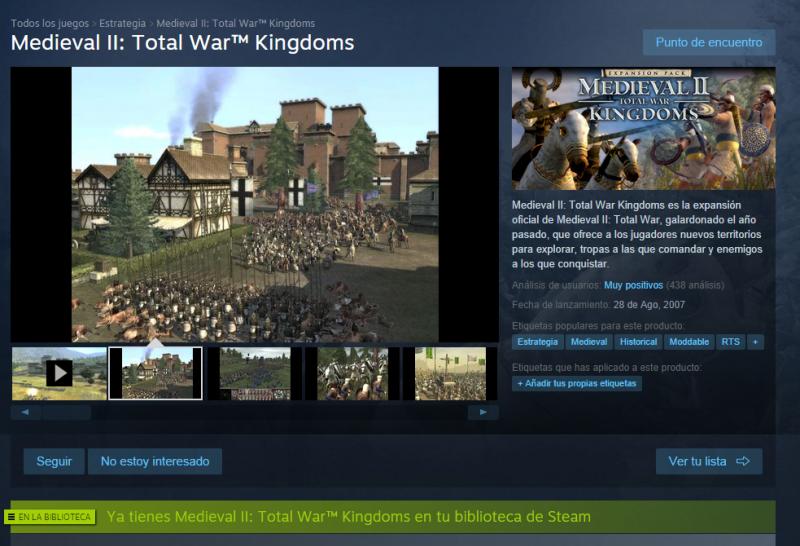 Problema con Kingdoms y Steam Enlabiblioteca