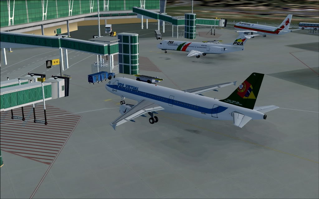 [FS9] A320 da Voo Virtual do Porto LPPR para Madrid LEMD A320_VV02