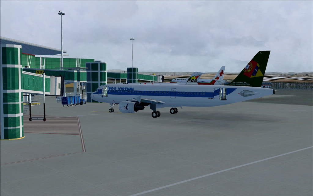 [FS9] A320 da Voo Virtual do Porto LPPR para Madrid LEMD A320_VV03