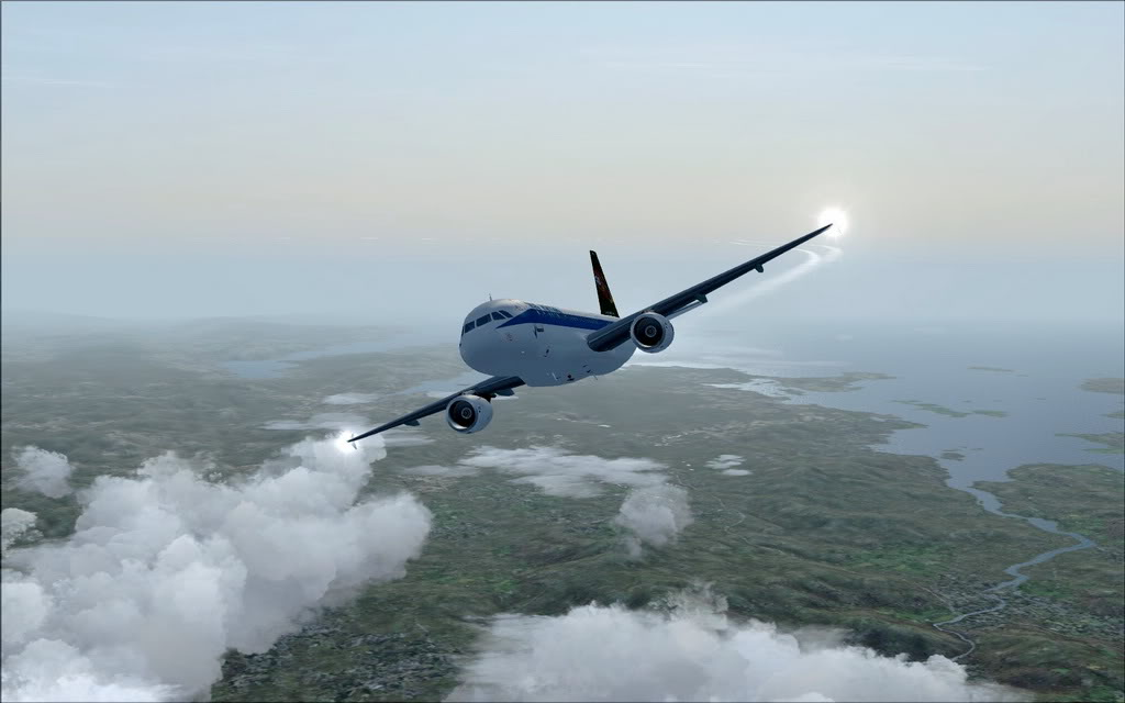 [FS9] A320 da Voo Virtual do Porto LPPR para Madrid LEMD A320_VV09