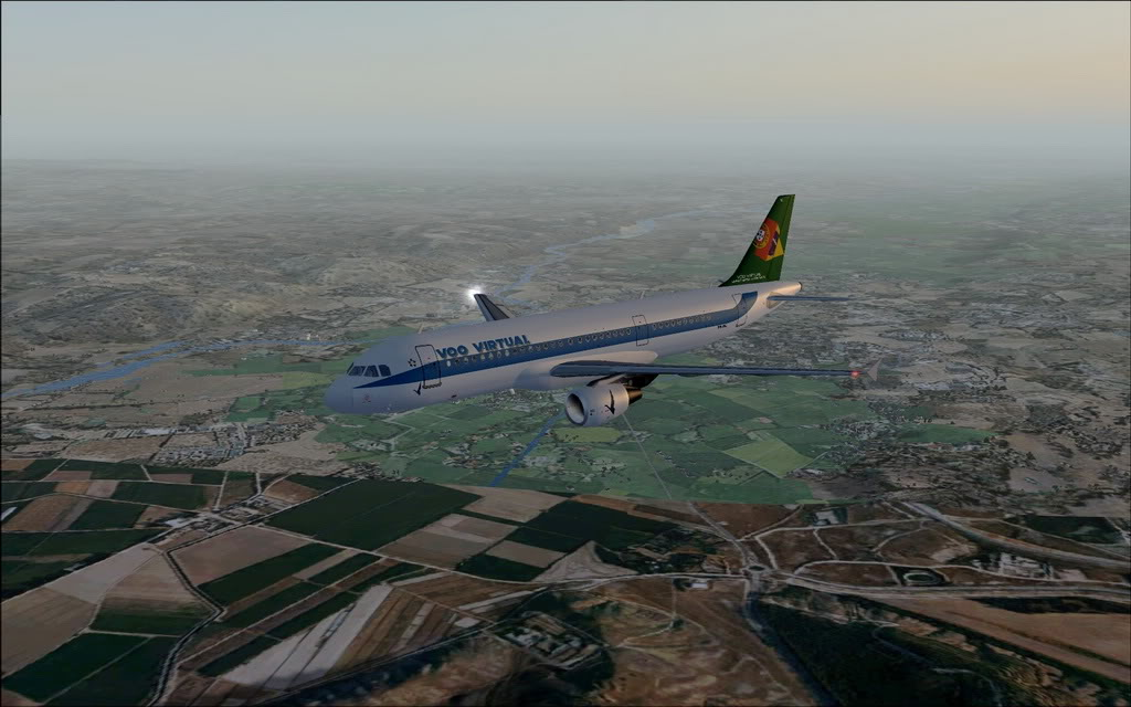 [FS9] A320 da Voo Virtual do Porto LPPR para Madrid LEMD A320_VV13