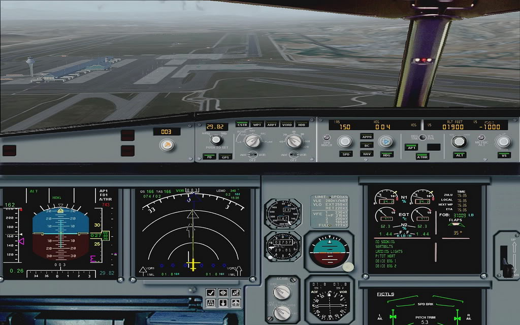 [FS9] A320 da Voo Virtual do Porto LPPR para Madrid LEMD A320_VV15