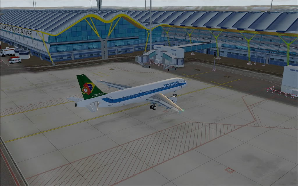 [FS9] A320 da Voo Virtual do Porto LPPR para Madrid LEMD A320_VV17
