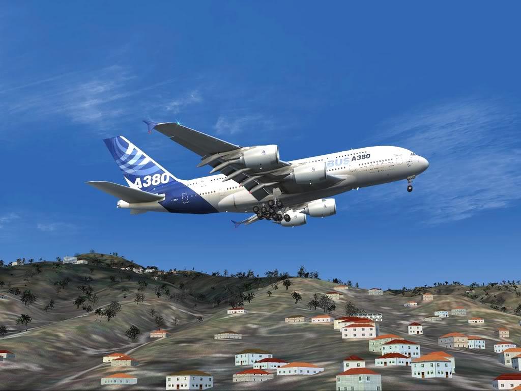 [FS9] - Voo para a Madeira num A380 A38011