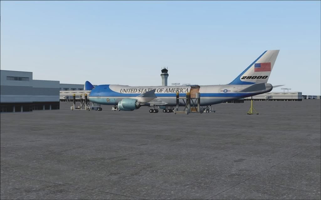 [FS9] Air Force One - B747-8F de Bangkok para Kuala Lumpur AFOne01