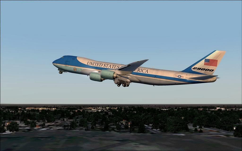 [FS9] Air Force One - B747-8F de Bangkok para Kuala Lumpur AFOne06