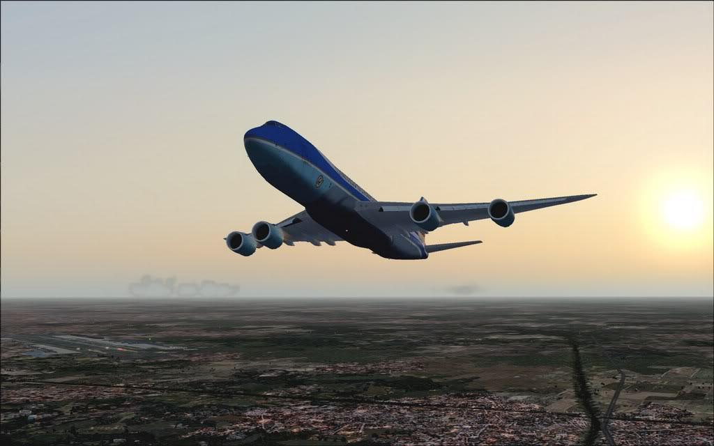 [FS9] Air Force One - B747-8F de Bangkok para Kuala Lumpur AFOne07