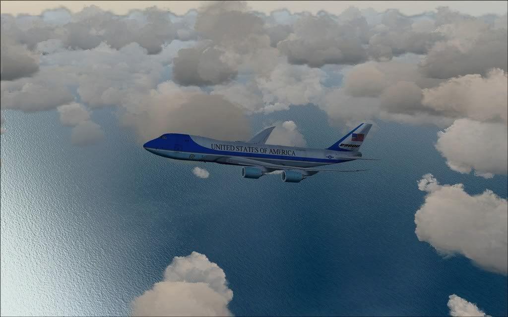 [FS9] Air Force One - B747-8F de Bangkok para Kuala Lumpur AFOne11