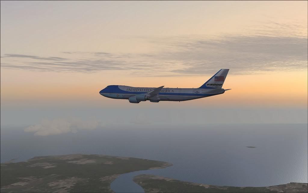 [FS9] Air Force One - B747-8F de Bangkok para Kuala Lumpur AFOne14