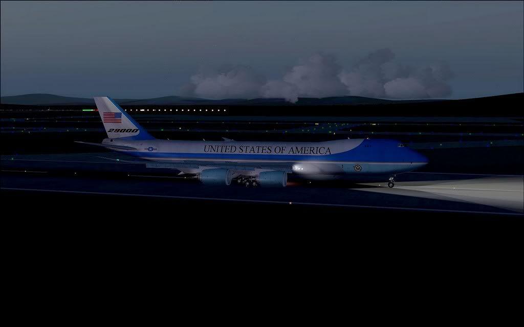 [FS9] Air Force One - B747-8F de Bangkok para Kuala Lumpur AFOne20