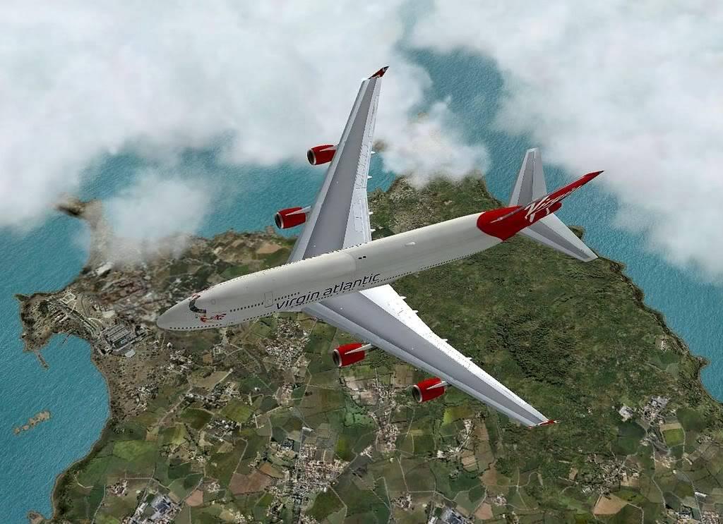 [FS9] B747-400 da Virgin - Voo de Lisboa para Faro Screenshot287