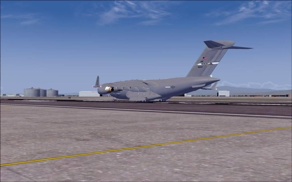 [FS9] - Voo com o Boeing C-17 Globemaster entre Travis AB e Beale AB C1702