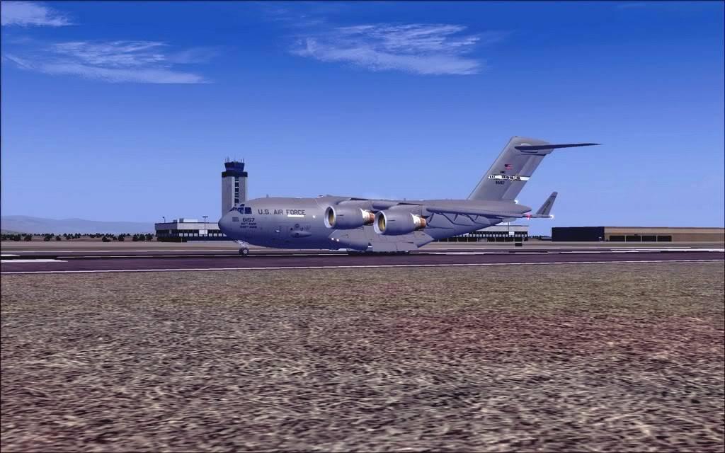 [FS9] - Voo com o Boeing C-17 Globemaster entre Travis AB e Beale AB C1703