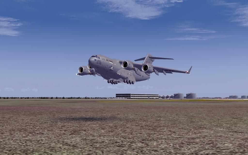 [FS9] - Voo com o Boeing C-17 Globemaster entre Travis AB e Beale AB C1704
