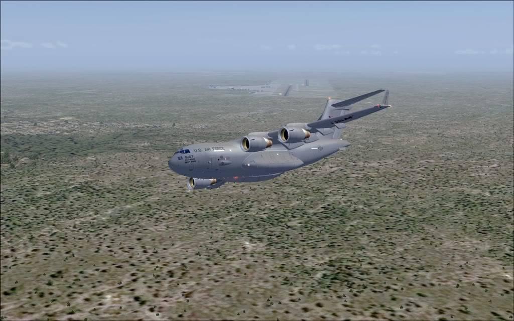 [FS9] - Voo com o Boeing C-17 Globemaster entre Travis AB e Beale AB C1705