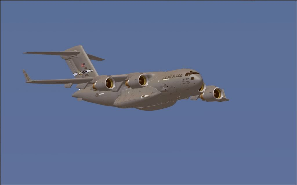 [FS9] - Voo com o Boeing C-17 Globemaster entre Travis AB e Beale AB C1707