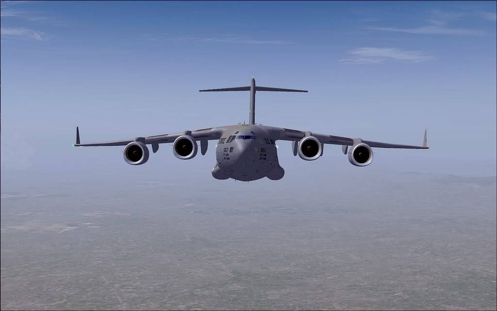[FS9] - Voo com o Boeing C-17 Globemaster entre Travis AB e Beale AB C1708