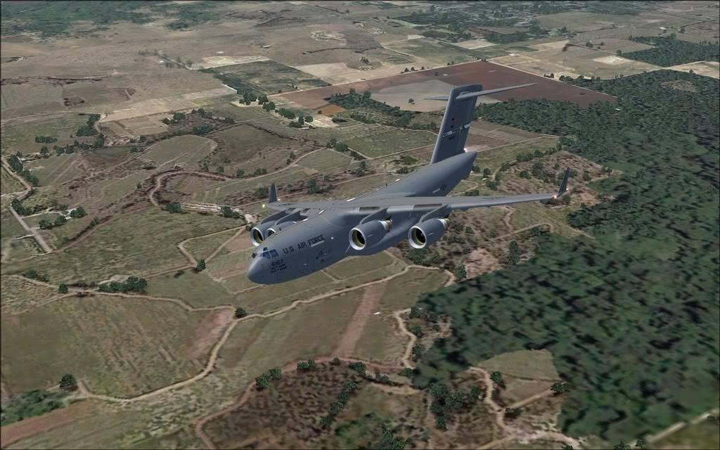 [FS9] - Voo com o Boeing C-17 Globemaster entre Travis AB e Beale AB C1709