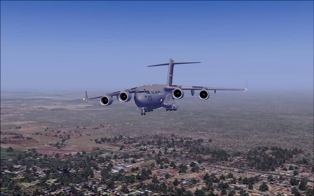 [FS9] - Voo com o Boeing C-17 Globemaster entre Travis AB e Beale AB C1711
