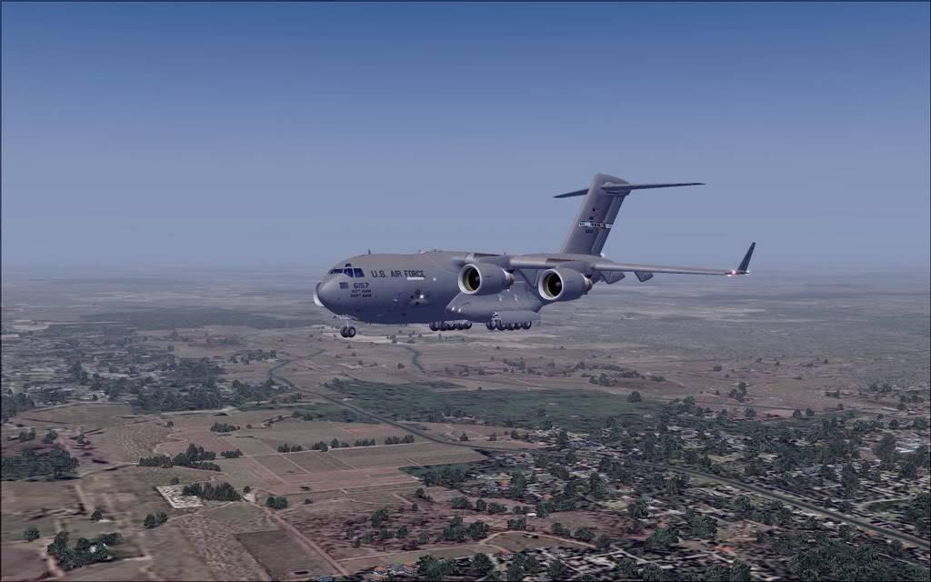 [FS9] - Voo com o Boeing C-17 Globemaster entre Travis AB e Beale AB C1712