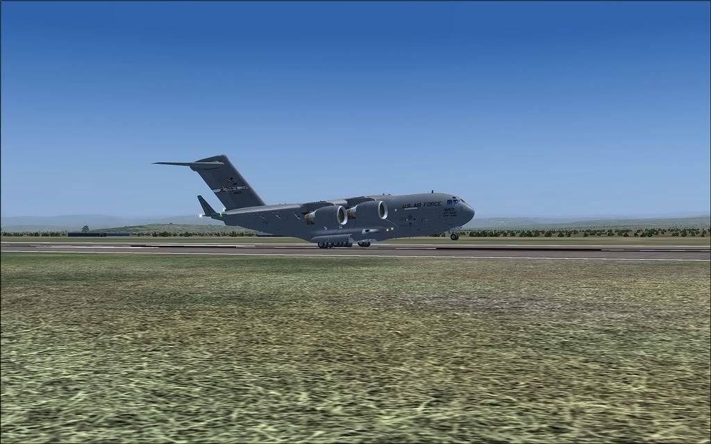 [FS9] - Voo com o Boeing C-17 Globemaster entre Travis AB e Beale AB C1716