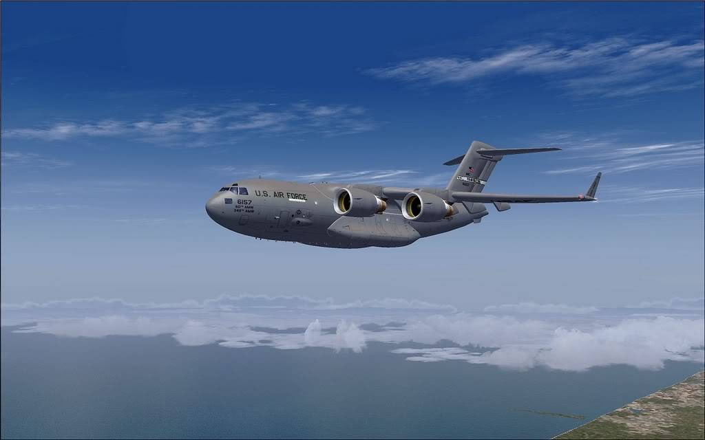 [FS9] - Voo com o Boeing C-17 Globemaster entre Travis AB e Beale AB C1717