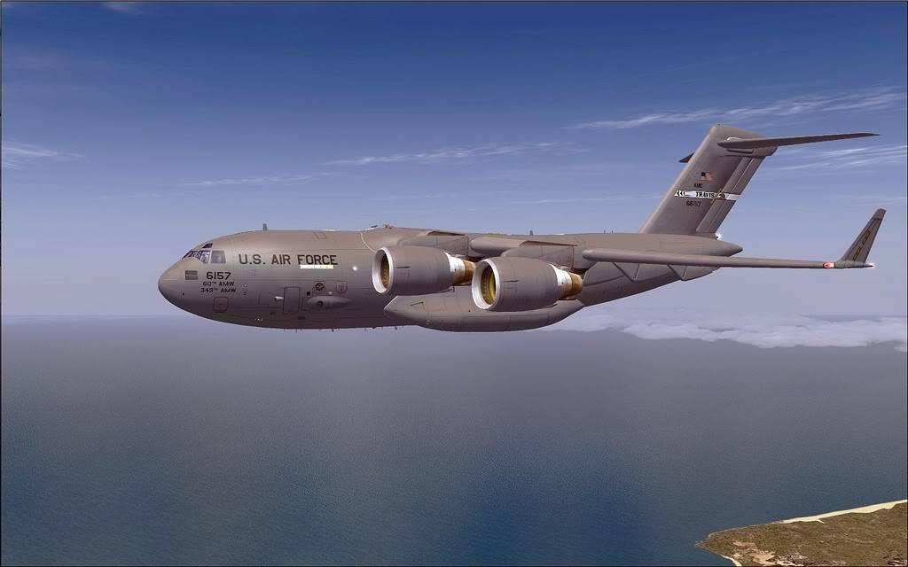 [FS9] - Voo com o Boeing C-17 Globemaster entre Travis AB e Beale AB C1718