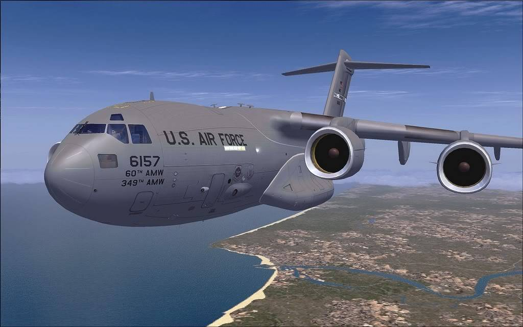[FS9] - Voo com o Boeing C-17 Globemaster entre Travis AB e Beale AB C1719