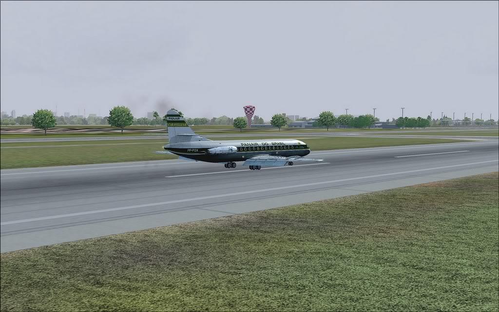 [FS9] - Chegada a Fortaleza do Caravelle da Panair Caravele_Panair16