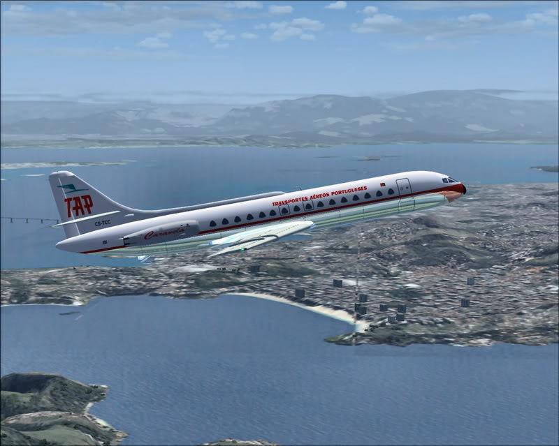 [FS9] Caravelle VI R da Panair - Dep. de Recife SBRF para SBFZ TAP_Caravelle12