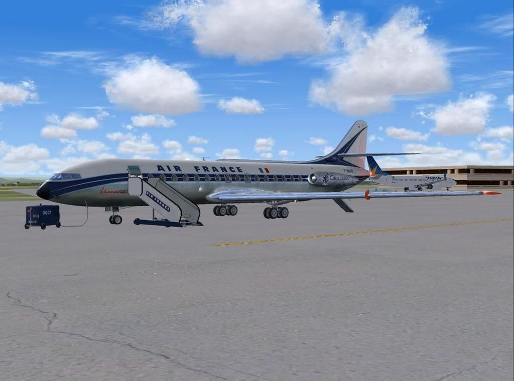 [FS9] - Sud Aviation Caravelle III de Lyon para o Porto Caravelle_AF01