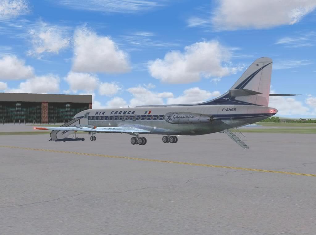 [FS9] - Sud Aviation Caravelle III de Lyon para o Porto Caravelle_AF02