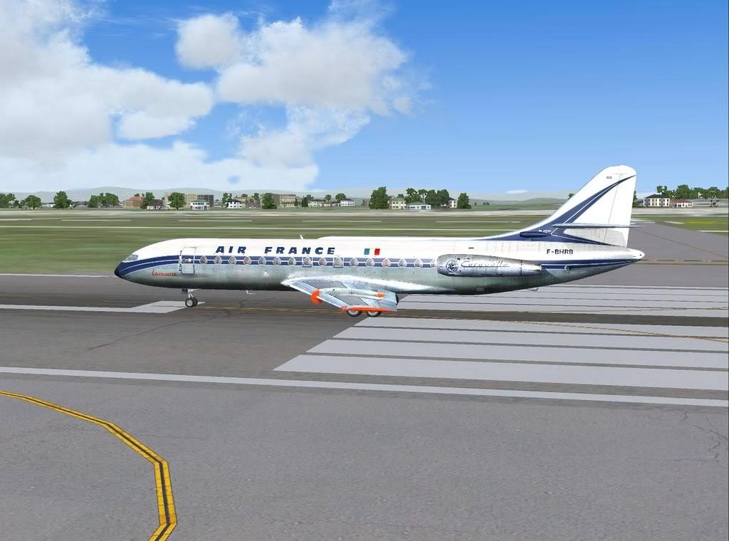 [FS9] - Sud Aviation Caravelle III de Lyon para o Porto Caravelle_AF03