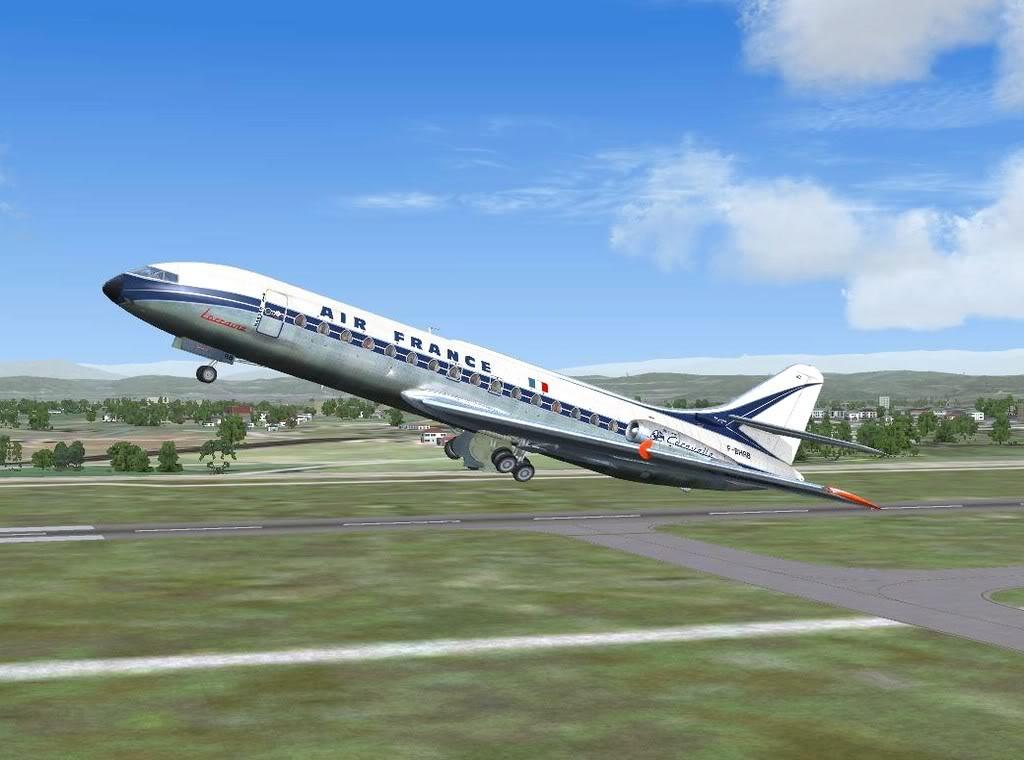 [FS9] - Sud Aviation Caravelle III de Lyon para o Porto Caravelle_AF04